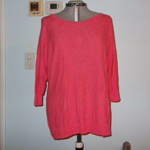 Sonoma Plus Size 2X Pink Sweater Blouse Shirt Top